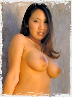 Large Breasts Asian in Short Skirt